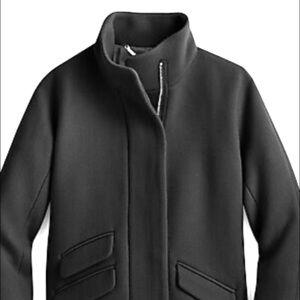 J. Crew  Italian Stadium-Cloth Cocoon Wool Coat